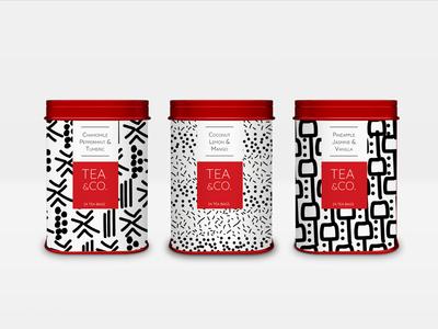 Tea Tins with Original Pattern Design Work