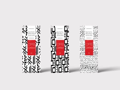 Coffee Bags w/Original Abstract Prints
