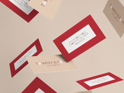Tawny + Faye Business Cards