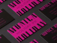 Holiday PR Business Cards Mockup