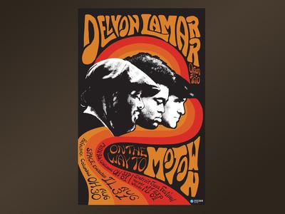 70's Style Motown Poster for Delvon Lamarr Organ Trio