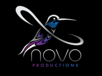 Metallic logo variant for Novo Productions