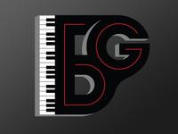 Piano logo for Brady Goss - color variation