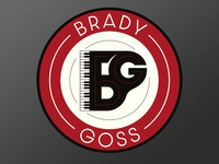 Piano logo for musician Brady Goss