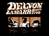Merch design for Delvon Lamarr Organ Trio band