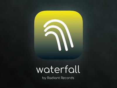 Waterfall music-streaming app logo