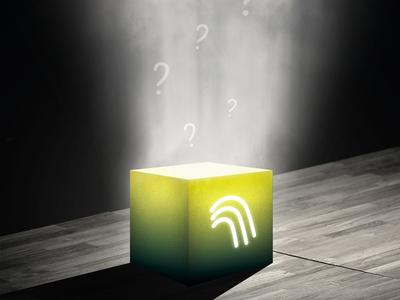 """Mystery Box"" graphic for Waterfall app's bonus tracks"