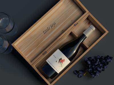 Little Joys Wine branding 3d artist wine bottle cinema4d wine label wine 3d