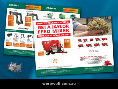 Howard Australia – Feed Mixers Brochure. acrobat indesign illustrator photography photoshop retouching final art concepts project management art direction graphic design typography branding