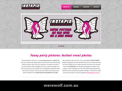 Instapix Photography – Website Design. webdesign typography retouching project management photoshop photography javascript illustrator html5 graphic design css3 concepts branding art direction
