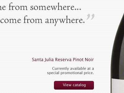 Vino wine typography