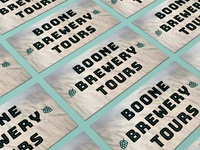 Boone Brewery Tours Business Card