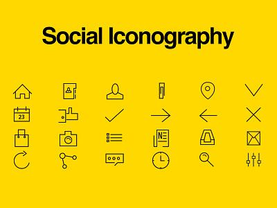 Social Icons social icons flat beautiful minmalistic clean