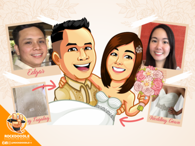 Kasal cartoonlogo mascot design illustration wedding caricature logo character cartoon vector rockdoodle