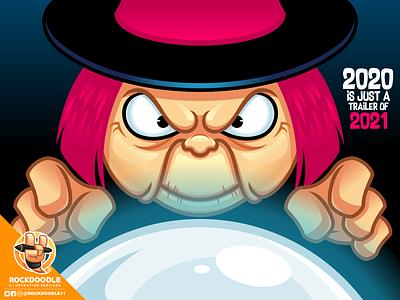DBZ Baba dbz fanart fortuneteller baba illustration mascot character cartoon vector rockdoodle