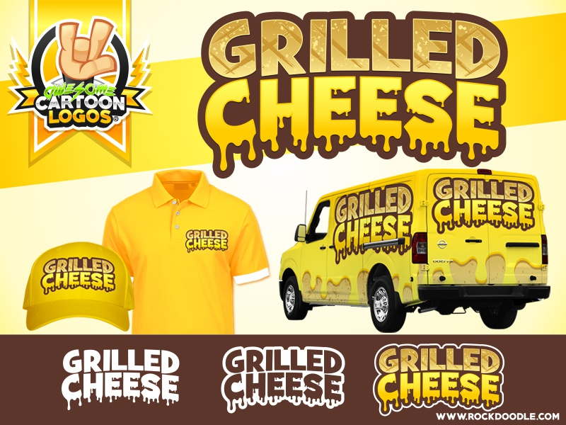 Grilled Cheese web vector logo cartoon rockdoodle