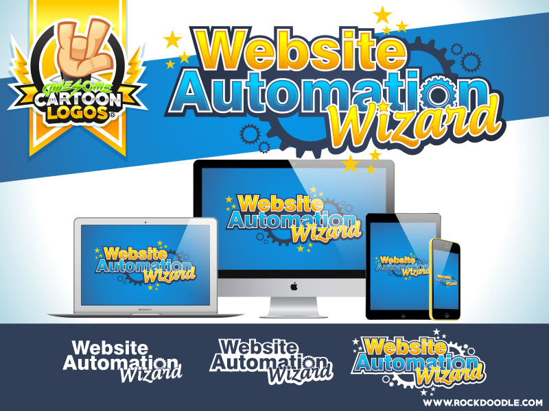 Website Automation Wizard web vector logo cartoon rockdoodle