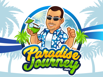Paradise Journey characterdesigns mascotdesign character caricature mascot web vector logo cartoon rockdoodle