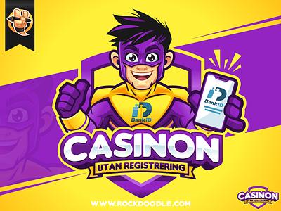 Casinon Utan Registrering casinon bestvector portfolio cartoonlogo charactermascot mascotdesign vector illustration branding design logo mascot character cartoon rockdoodle