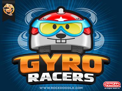 Gyro Racers gyroracers racers gyro yoyo duncan duncantoys bestvector portfolio cartoonlogo charactermascot mascotdesign vector illustration branding design logo mascot character cartoon rockdoodle
