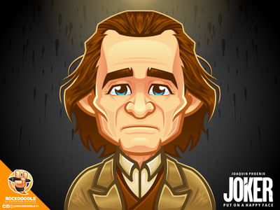 Joaquin Phoenix portfolio avatar mascotdesign illustration character cartoon vector fanart joaquin phoenix dc joker rockdoodle