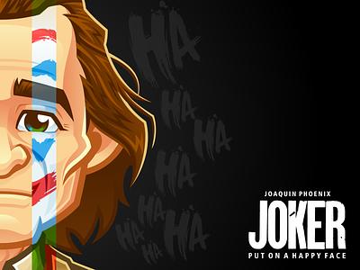Joker bestvector avatar illustration mascot character vector cartoon fanart joaquin phoenix dc joker rockdoodle