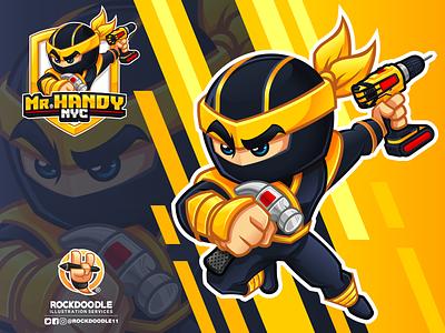 Mr. Handy NYC cartoonlogo mascotdesign vector logo design mascot character cartoon rockdoodle