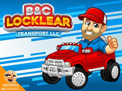 B&C Locklear cartoonlogo bestvector character portfolio mascot illustration caricature logo vector cartoon rockdoodle