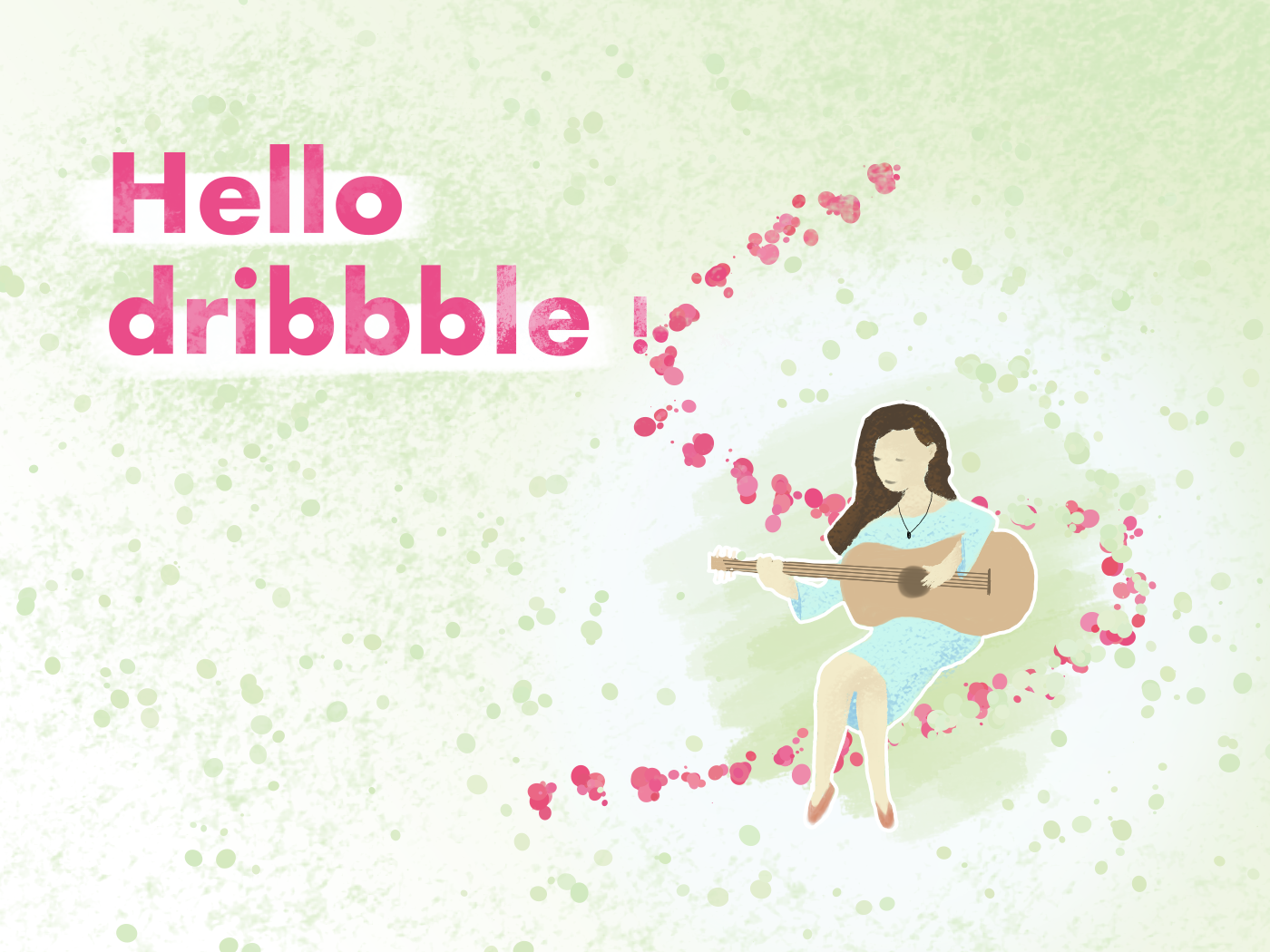 Hello Dribbble by Laura Sophie colors color fun typography illustration new me hello dribbble
