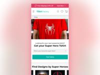 T-shirt Factory Landing Page Design