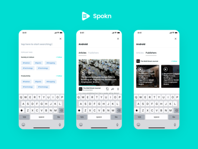 Spokn - Audio Narrated Articles Search and Explore