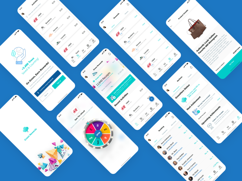 gaiabun Loyalty & Payments App Showcase concept ux ui simple minimal clean payment app gamification loyalty points transactions fintech app payment payments