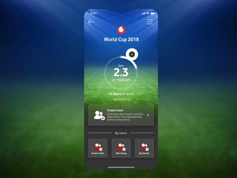 Vodafone Egypt World Cup 18 Commercial Proposition ui simple minimal clean app concept consumption football app team create commercial teleco landing sports football worldcup2018 worldcup