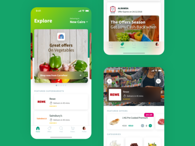 Subermarkeet, e-commerce grocery shopping app design product list offer offers search cart list concept ecommerce design app home grocery online grocery app shop e-commerce app e-commerce