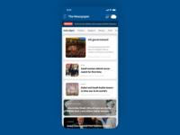 Newspaper App Home Screen Design