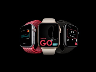 Scooter Rental App design for Smart Watch