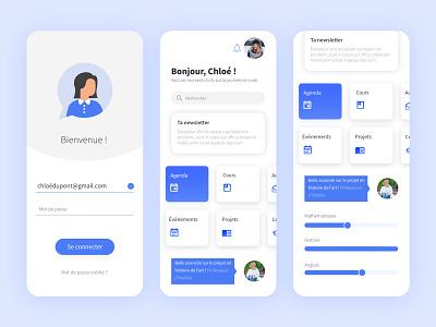 School App | Loggin interface design interfaces login ui innovate school app school responsive design product designer product design minimal interface design blue ui blue app app design