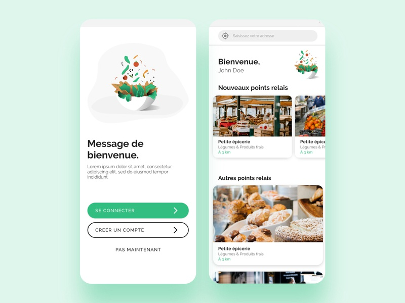 Food Delivery App | Part 1 food app foodie food delivery service food delivery app food delivery interfaces interface design ui product designer product design minimal interface design app design app