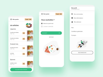 Food Delivery App | Part 2 process online shopping food and drink uiux green green ui food design food delivery app food ui food app food interface design ui product designer product design minimal interface design app design app
