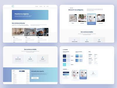 Digital Plateform minimalist graphical user interface interfaces ui ux ux blue ui design product designer interface design ui branding product design minimal interface