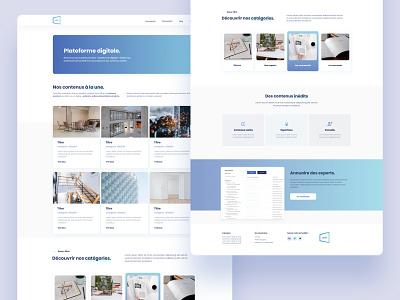Digital plateform digital ux design ui design ui  ux ui ux landing webdesign interfaces blue ux blue ui interface design ui product designer product design minimal interface design