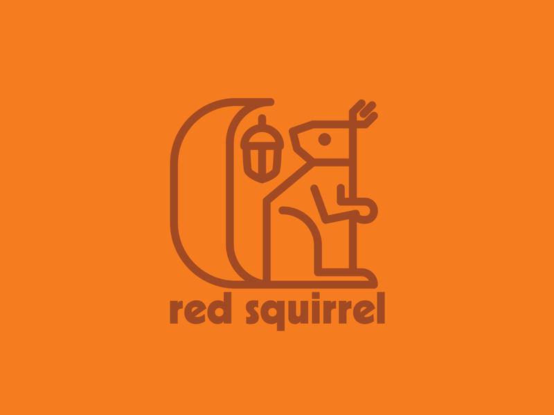 Squirrel logo wildlife nature grey squirrel red squirrel squirrel drawing draw icon illustrate illustration identity brand badge design graphic design logo