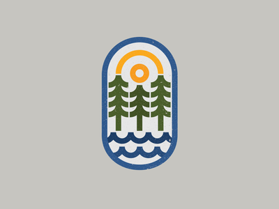 Outdoor logo explore water adventure forest outdoors drawing draw icon illustrate illustration identity brand badge design graphic design logo