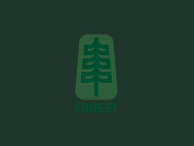 Forest logo explore outdoors trees woods forest drawing draw icon illustrate illustration identity brand badge design graphic design logo
