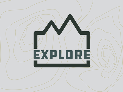 Explore logo the great outdoors mountains hike outdoors adventure explore drawing draw icon illustrate illustration identity brand badge design graphic design logo