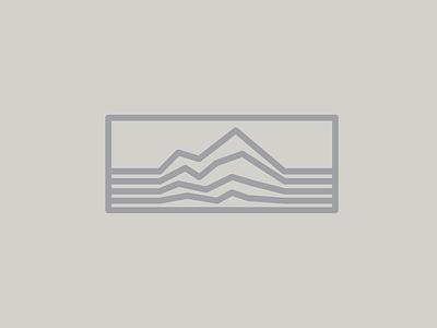 Mountain range logo minimal hike climb explore outdoors mountain range mountains mountain drawing draw icon illustrate illustration identity brand badge design graphic design logo