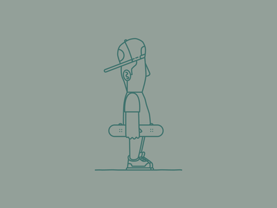 Skateboarder skate skateboarder skateboard drawing draw icon illustrate illustration identity brand badge design graphic design logo
