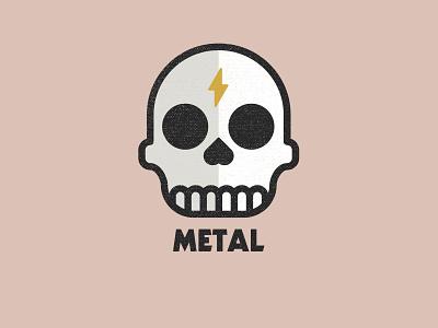 Skull illustration music punk heavy metal skull icon brand drawing draw badge logo identity illustration illustrate graphic design design