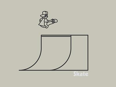 Skate illustration skate ramp skateboarder skateboard skate drawing draw icon illustrate illustration identity brand badge design graphic design logo