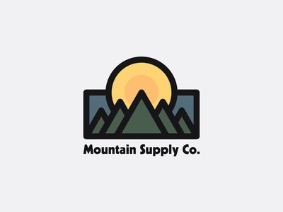 Mountain Supply Co. adventure explore great outdoors outdoors mountains drawing draw icon illustrate illustration identity brand badge design graphic design logo